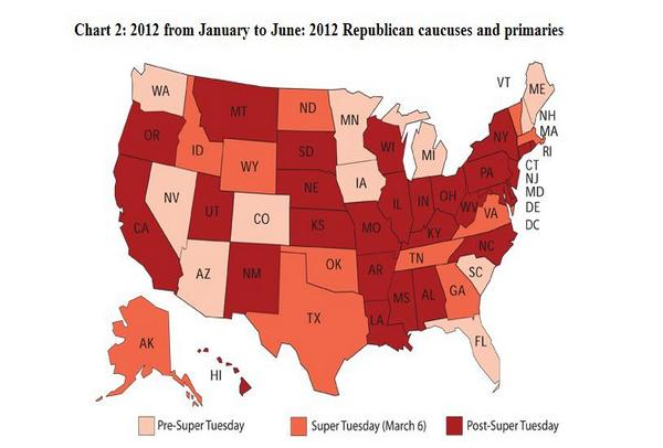 2012 GOP Primary Map - December 8, 2011