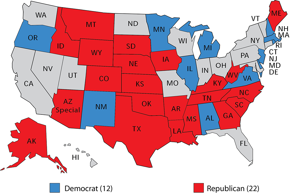 Senate 2020 The Primary Challengers Rasmussen Reports - Al-franken-draws-us-map