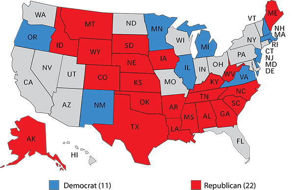 The Republican Senate Edge Rasmussen Reports - 2017-us-election-map
