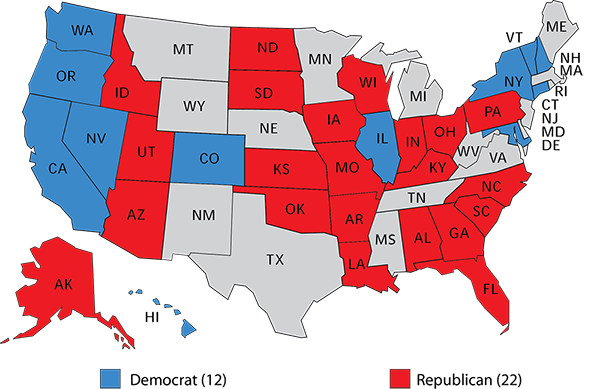 The Republican Senate Edge Rasmussen Reports - 2017 map of us senate