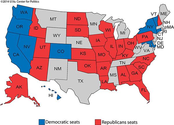 Senate 2016: The Republicans' 2012 Homework - Rasmussen Reports® on 2008 senate map, new york senate elecction map, 2012 senate races map, 2010 ny districts map, 2015 senate map, ca gop map, democrat population map, election map, 2012 battleground map,