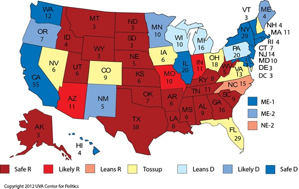 Tight National Race Freezes Electoral College Map Rasmussen Reports - 2008results us elections map