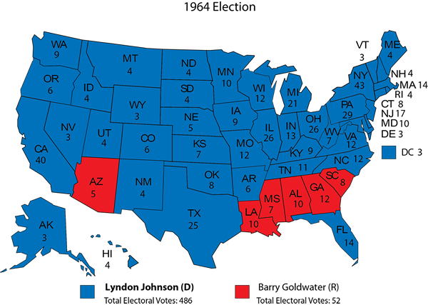 History In Red And Blue And Green And Purple Rasmussen Reports - 2015 us election map