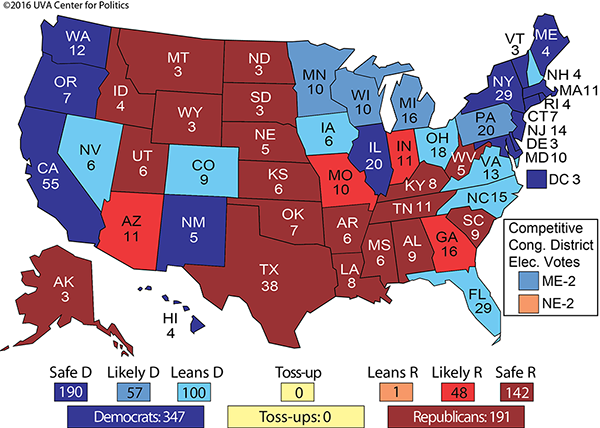 The Electoral College Map No Rasmussen Reports - Population concentration us map electoral colleg
