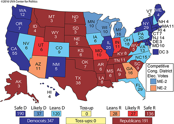 The Electoral College Map No 2 Rasmussen Reports