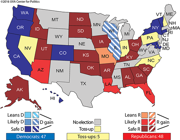 Clintons Electoral College Lead Regenerates Rasmussen Reports - Us polls for president 2016 map