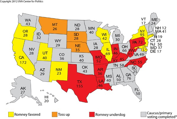 Rating on Remaining Primaries - March 15, 2012
