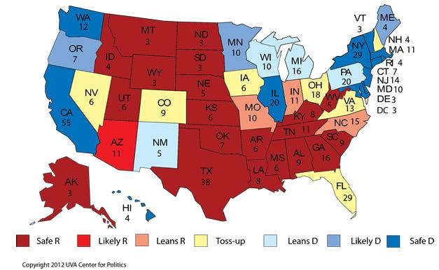 Plan of Attack: Obama, Romney & The Electoral College ...